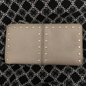 Michael Kors leather studded bifold wallet